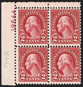 Sale Number 1175, Lot Number 768, 1922 and Later Issues (Scott 551-679)2c Carmine, Ty. II (634A), 2c Carmine, Ty. II (634A)