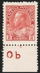 "Sale Number 1178, Lot Number 1278, 1911-25 King George V ""Admirals"" and Balance (Scott 104-140)CANADA, 1911, 2c Pink (106b), CANADA, 1911, 2c Pink (106b)"