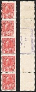 "Sale Number 1178, Lot Number 1282, 1911-25 King George V ""Admirals"" and Balance (Scott 104-140)CANADA, 1915, 2c Deep Rose Red, Experimental Coil, Type ""C"" Backstamp (Unitrade 106xii), CANADA, 1915, 2c Deep Rose Red, Experimental Coil, Type ""C"" Backstamp (Unitrade 106xii)"