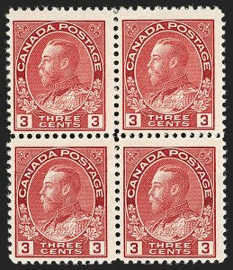 "Sale Number 1178, Lot Number 1286, 1911-25 King George V ""Admirals"" and Balance (Scott 104-140)CANADA, 1924, 3c Carmine, Die II, Double Paper (Unitrade 109ci), CANADA, 1924, 3c Carmine, Die II, Double Paper (Unitrade 109ci)"