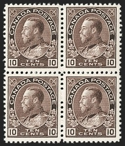 "Sale Number 1178, Lot Number 1298, 1911-25 King George V ""Admirals"" and Balance (Scott 104-140)CANADA, 1912, 10c Plum (116), CANADA, 1912, 10c Plum (116)"