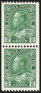 "Sale Number 1178, Lot Number 1308, 1911-25 King George V ""Admirals"" and Balance (Scott 104-140)CANADA, 1924, 2c Yellow Green Coil (133), CANADA, 1924, 2c Yellow Green Coil (133)"