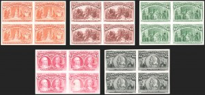 Sale Number 1179, Lot Number 2054, Essays, Proofs and Specimens: Bank Notes thru 1902 Issue1c-$5.00 Columbian, Plate Proofs on Card (230P4-245P4), 1c-$5.00 Columbian, Plate Proofs on Card (230P4-245P4)