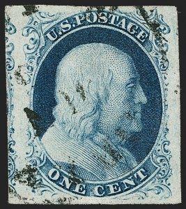 Sale Number 1179, Lot Number 2093, 1c-3c 1851-56 Issue (Scott 6-11A)1c Blue, Ty. IIIa (8A), 1c Blue, Ty. IIIa (8A)
