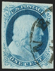 Sale Number 1179, Lot Number 2094, 1c-3c 1851-56 Issue (Scott 6-11A)1c Blue, Ty. IIIa (8A), 1c Blue, Ty. IIIa (8A)