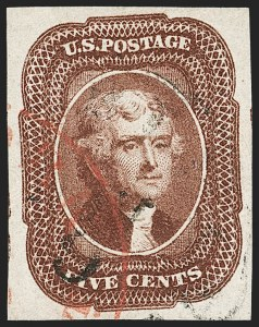 Sale Number 1179, Lot Number 2108, 5c-12c 1851-56 Issue (Scott 12-17)5c Red Brown (12), 5c Red Brown (12)