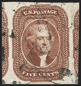 Sale Number 1179, Lot Number 2109, 5c-12c 1851-56 Issue (Scott 12-17)5c Red Brown (12), 5c Red Brown (12)