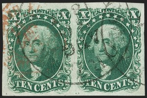 Sale Number 1179, Lot Number 2114, 5c-12c 1851-56 Issue (Scott 12-17)10c Green, Ty. I (13), 10c Green, Ty. I (13)