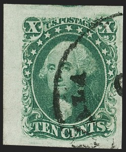 Sale Number 1179, Lot Number 2116, 5c-12c 1851-56 Issue (Scott 12-17)10c Green, Ty. III (15), 10c Green, Ty. III (15)