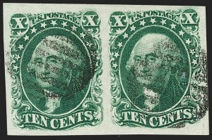 Sale Number 1179, Lot Number 2118, 5c-12c 1851-56 Issue (Scott 12-17)10c Green, Ty. III (15), 10c Green, Ty. III (15)