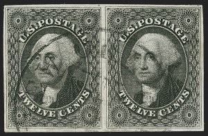Sale Number 1179, Lot Number 2121, 5c-12c 1851-56 Issue (Scott 12-17)12c Black, Triple Transfer (17), 12c Black, Triple Transfer (17)