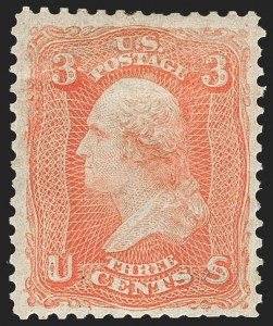 Sale Number 1179, Lot Number 2156, 1861-66 Issue (Scott 56-78)3c Scarlet (74), 3c Scarlet (74)