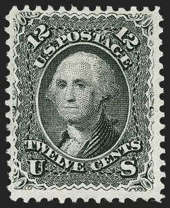 Sale Number 1179, Lot Number 2164, 1867-68 Grilled Issue, 1875 Re-Issue (Scott 79-110)12c Black, E. Grill (90), 12c Black, E. Grill (90)