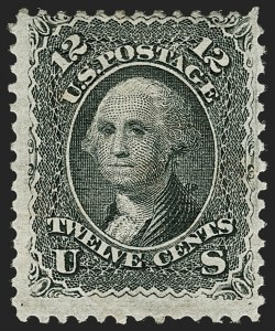 Sale Number 1179, Lot Number 2165, 1867-68 Grilled Issue, 1875 Re-Issue (Scott 79-110)12c Black, E. Grill (90), 12c Black, E. Grill (90)
