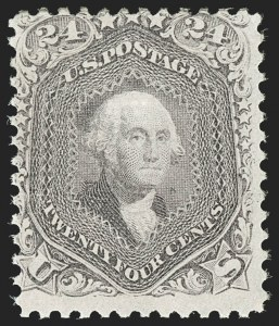 Sale Number 1179, Lot Number 2167, 1867-68 Grilled Issue, 1875 Re-Issue (Scott 79-110)24c Gray Lilac, F. Grill (99), 24c Gray Lilac, F. Grill (99)