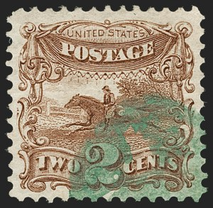 Sale Number 1179, Lot Number 2177, 1869 Pictorial Issue (Scott 112-122)2c Brown (113), 2c Brown (113)