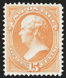 Sale Number 1179, Lot Number 2213, 1870-88 Bank Note Issues (Scott 134-218)15c Reddish Orange (163), 15c Reddish Orange (163)
