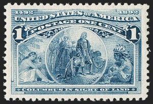 Sale Number 1179, Lot Number 2232, 1c-50c 1893 Columbian Issue (Scott 230-240)1c Columbian (230), 1c Columbian (230)