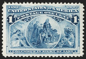 Sale Number 1179, Lot Number 2233, 1c-50c 1893 Columbian Issue (Scott 230-240)1c Columbian (230), 1c Columbian (230)