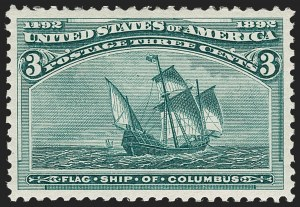 Sale Number 1179, Lot Number 2236, 1c-50c 1893 Columbian Issue (Scott 230-240)3c Columbian (232), 3c Columbian (232)