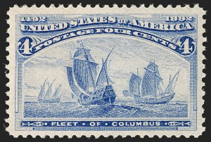 Sale Number 1179, Lot Number 2237, 1c-50c 1893 Columbian Issue (Scott 230-240)4c Columbian (233), 4c Columbian (233)
