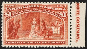 Sale Number 1179, Lot Number 2257, $1.00-$5.00 1893 Columbian Issue (Scott 241-245)$1.00 Columbian (241), $1.00 Columbian (241)
