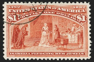 Sale Number 1179, Lot Number 2262, $1.00-$5.00 1893 Columbian Issue (Scott 241-245)$1.00 Columbian (241), $1.00 Columbian (241)