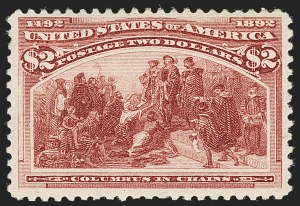 Sale Number 1179, Lot Number 2266, $1.00-$5.00 1893 Columbian Issue (Scott 241-245)$2.00 Columbian (242), $2.00 Columbian (242)