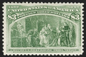 Sale Number 1179, Lot Number 2269, $1.00-$5.00 1893 Columbian Issue (Scott 241-245)$3.00 Columbian (243), $3.00 Columbian (243)