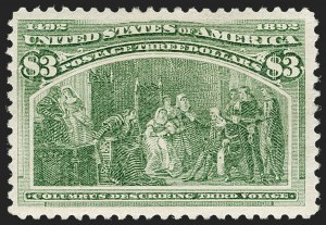 Sale Number 1179, Lot Number 2270, $1.00-$5.00 1893 Columbian Issue (Scott 241-245)$3.00 Columbian (243), $3.00 Columbian (243)