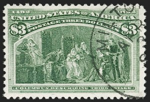 Sale Number 1179, Lot Number 2271, $1.00-$5.00 1893 Columbian Issue (Scott 241-245)$3.00 Columbian (243), $3.00 Columbian (243)