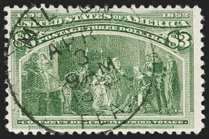 Sale Number 1179, Lot Number 2272, $1.00-$5.00 1893 Columbian Issue (Scott 241-245)$3.00 Columbian (243), $3.00 Columbian (243)