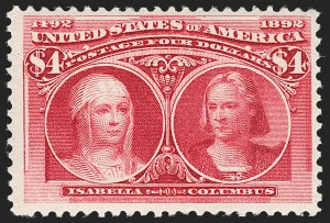 Sale Number 1179, Lot Number 2273, $1.00-$5.00 1893 Columbian Issue (Scott 241-245)$4.00 Columbian (244), $4.00 Columbian (244)