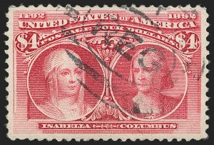 Sale Number 1179, Lot Number 2274, $1.00-$5.00 1893 Columbian Issue (Scott 241-245)$4.00 Columbian (244), $4.00 Columbian (244)