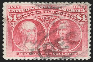 Sale Number 1179, Lot Number 2275, $1.00-$5.00 1893 Columbian Issue (Scott 241-245)$4.00 Columbian (244), $4.00 Columbian (244)