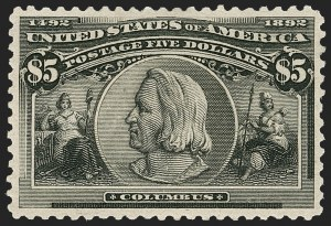 Sale Number 1179, Lot Number 2276, $1.00-$5.00 1893 Columbian Issue (Scott 241-245)$5.00 Columbian (245), $5.00 Columbian (245)