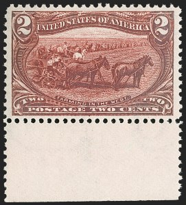 Sale Number 1179, Lot Number 2308, 1898 Trans-Mississippi Issue (Scott 285-293)2c Trans-Mississippi (286), 2c Trans-Mississippi (286)