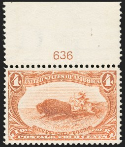 Sale Number 1179, Lot Number 2310, 1898 Trans-Mississippi Issue (Scott 285-293)4c Trans-Mississippi (287), 4c Trans-Mississippi (287)