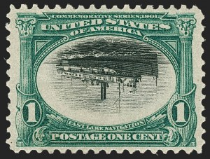 Sale Number 1179, Lot Number 2332, 1901 Pan-American Issue (Scott 294-299)1c Pan-American, Center Inverted (294a), 1c Pan-American, Center Inverted (294a)