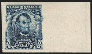 Sale Number 1179, Lot Number 2349, 1902-08 Issues (Scott 300-320)5c Blue, Imperforate (315), 5c Blue, Imperforate (315)