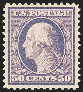 Sale Number 1179, Lot Number 2357, 1908-10 Washington-Franklin Issues, 1909 Commemoratives (Scott 331-371)50c Violet (341), 50c Violet (341)