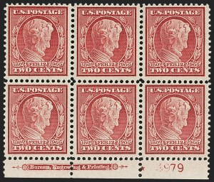 Sale Number 1179, Lot Number 2366, 1908-10 Washington-Franklin Issues, 1909 Commemoratives (Scott 331-371)2c Lincoln, Bluish (369), 2c Lincoln, Bluish (369)