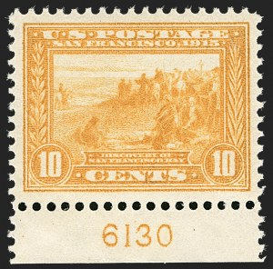 Sale Number 1179, Lot Number 2372, 1910-15 Washington-Franklin Issues (Scott 374-461)10c Orange Yellow, Panama-Pacific (400), 10c Orange Yellow, Panama-Pacific (400)