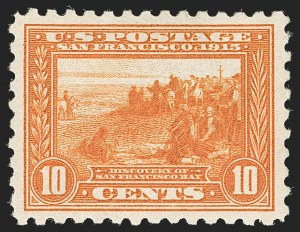 Sale Number 1179, Lot Number 2373, 1910-15 Washington-Franklin Issues (Scott 374-461)10c Panama-Pacific, Perf 10 (404), 10c Panama-Pacific, Perf 10 (404)