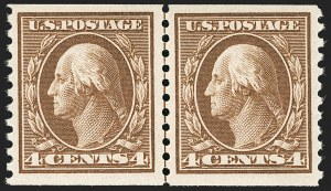 Sale Number 1179, Lot Number 2379, 1910-15 Washington-Franklin Issues (Scott 374-461)4c Brown, Coil (446), 4c Brown, Coil (446)