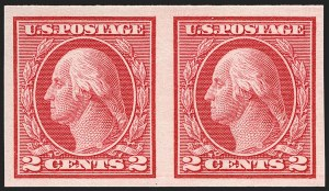 Sale Number 1179, Lot Number 2386, 1910-15 Washington-Franklin Issues (Scott 374-461)2c Carmine, Ty. I, Imperforate Coil (459), 2c Carmine, Ty. I, Imperforate Coil (459)