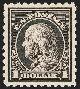 Sale Number 1179, Lot Number 2387, 1910-15 Washington-Franklin Issues (Scott 374-461)$1.00 Violet Black (460), $1.00 Violet Black (460)