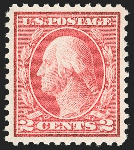 Sale Number 1179, Lot Number 2390, 1910-15 Washington-Franklin Issues (Scott 374-461)2c Pale Carmine Red, Ty. I (461), 2c Pale Carmine Red, Ty. I (461)