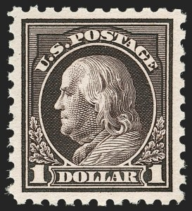 Sale Number 1179, Lot Number 2395, 1916-23 Issues (Scott 462-524)$1.00 Violet Black (478), $1.00 Violet Black (478)