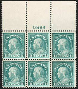 Sale Number 1179, Lot Number 2405, 1916-23 Issues (Scott 462-524)11c Light Green, Perf 10 at Bottom (511a), 11c Light Green, Perf 10 at Bottom (511a)